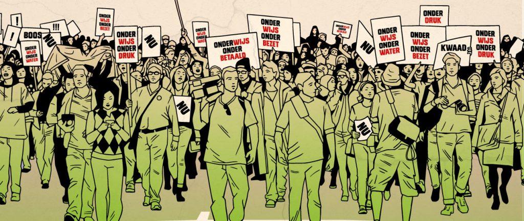 deze week komt het onderwijs in protest