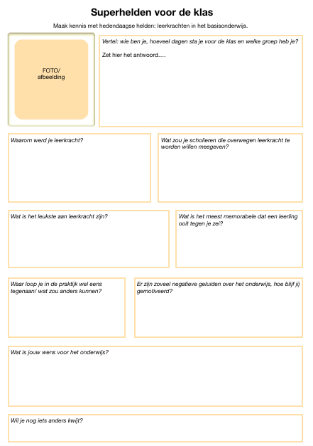 superhelden voor de klas layout